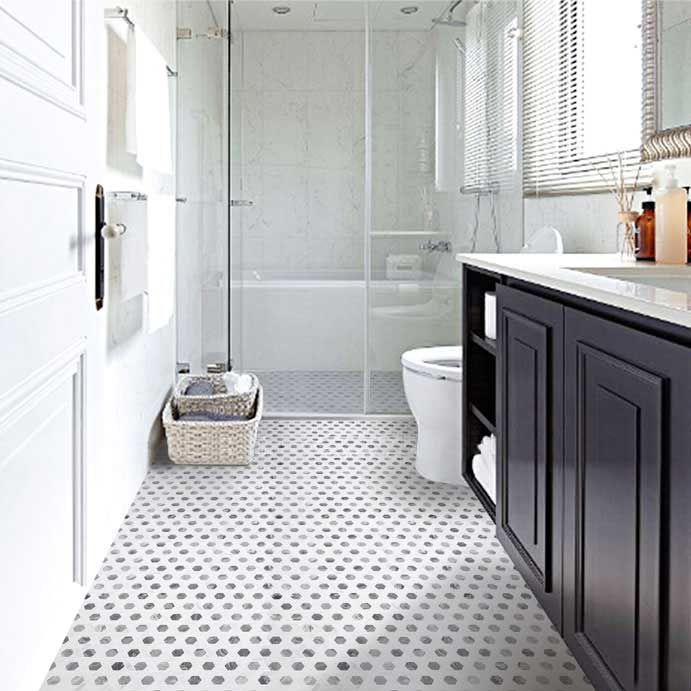 Using Mosaic Tiles In A Bathroom Perryman Painting Remodeling Inc